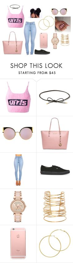 """""""Untitled #242"""" by cgmhcjhf ❤ liked on Polyvore featuring Alexander Wang, Elizabeth and James, Fendi, MICHAEL Michael Kors, Vans, Michael Kors, Rebecca Taylor and Melissa Odabash"""