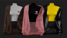 The Sims 4 Polo neck & Jacket by shendori Sims 3, Sims 4 Tsr, The Sims 4 Pc, The Sims 4 Skin, Sims 4 Mods Clothes, Sims 4 Clothing, Vêtement Harris Tweed, Muebles Sims 4 Cc, The Sims 4 Cabelos