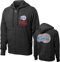 07f9e19c85a Los Angeles Clippers Za Heathered Full-Zip Hooded Sweatshirt - Charcoal La  Clippers, Blake
