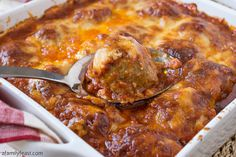Baked Meatball Parmesan
