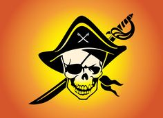 Cool Skull | Free pirate skull vector icon. Pirates are cool and everyone knows it ...