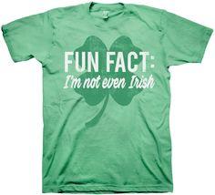 Fun Fact St. Patrick's Day T-Shirt: Holidays Mens T-Shirt