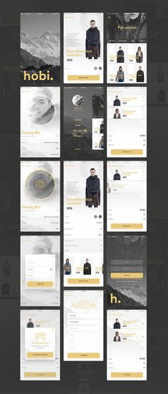 Hobi – Free Mobile App UI Kit – Free Design Resources - Expolore the best and the special ideas about App design Mobile Ui Design, App Ui Design, Layout Design, Android Design, Best Ui Design, Design Design, Design Trends, App Design Inspiration, Webdesign Inspiration