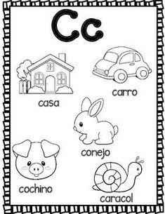 El Alfabeto:  Spanish Alphabet Coloring Sheets #spanishalphabet