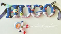 Name banner enfeite porta nome em feltro www.facebook.com/cocoycanela10
