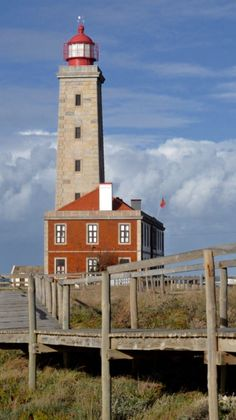 Sao Pedro Moel Lighthouse, Leiria, Portugal