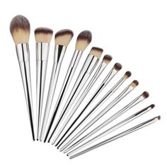 £7.88 - 12 Silver Pro Makeup Brushes (love these!) eBay UK