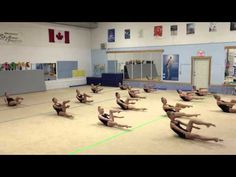 Conditioning Routine 1st of 3 for Rhythmic Gymnastics - YouTube