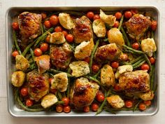 Chicken thighs, green beans-pioneer woman -Italian Chicken Sheet Pan Supper Recipe from Food Network Loading. Chicken thighs, green beans-pioneer woman -Italian Chicken Sheet Pan Supper Recipe from Food Network Pioneer Woman Chicken, Pioneer Woman Recipes, Pioneer Women, Food Network Recipes, Cooking Recipes, Healthy Recipes, Pizza Recipes, Recipe Network, Supper Recipes