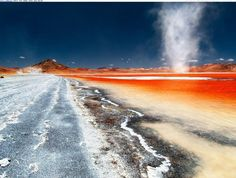 A Dust-Storm Swirls Around in Laguna Colorada, Bolivia