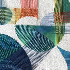 This type of thing is genuinely a stunning style conception. Paper Weaving, Weaving Textiles, Paper Embroidery, Embroidery Stitches, Stitching On Paper, Creative Textiles, Fabric Manipulation, Applique Quilts, Embroidery Techniques