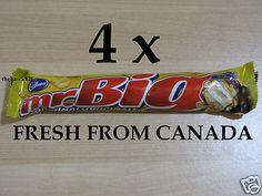 4 MR. BIG ORIGINAL Chocolate Bars CANADIAN CHOCOLATE 4 Full Size Bars