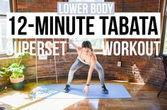 12-Minute Lower Body HIIT Workout - 3 Tabata Supersets, No Equipment Needed