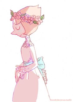 Pearl from Steven Universe in a wedding dress. This is so pretty :)<<< Imagine Steven's face if he ever saw Pearl get married, especially in this stunning dress! Lapis Lazuli, Perla Steven Universe, Holly Blue, Pearl Steven, Yellow Pearl, Universe Art, Force Of Evil, Illustrations, Rose