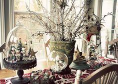 Vintage Christmas decor (Paper Bird)