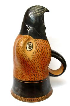 """Vessels for ritual wine pouring were made in the shape of animal heads. """"Pottery Rhyton in the form of an Eagle BC Attic Culture (Source: The British Museum)"""" Ancient Greek Art, Ancient Aliens, Ancient Greece, Ancient History, Architecture Classique, Art Et Architecture, Greek Artifacts, Ancient Artifacts, Classical Greece"""
