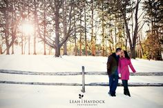 Leah Haydock Photography: Winter Engagement Pictures in the Snow :: Neeta + Richard in Maudslay State Park and Newburyport