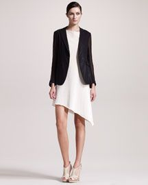 Rag & Bone 42nd Street Blazer & Goetz Leather Dress. @Erica Bunker: I immediately thought of you with this hemline.