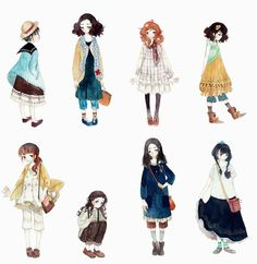 Mori girls by yuuta-apple