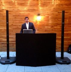 DJ Dave Swirsky at Artesky's Patroon for Rooftop Wedding June 2014