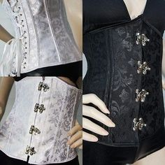 Brocade Boned Waist Training Steampunk Costume Cosplay Lace Up Underbust Corset