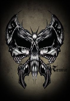 Skull butterfly by TimHag Traditional Art / Drawings / Macabre & Horror© TimHag Skull Tattoos, Body Art Tattoos, Cool Tattoos, Tatoos, Evil Skull Tattoo, Tattoo Hals, 1 Tattoo, Hawk Tattoo, Totenkopf Tattoos