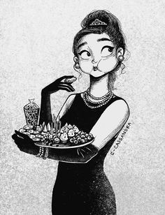 This is soo me. I'm  supposed to act sophisticated, but the I see food, all the class is thrown out the window