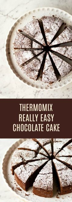 A simple recipe for Thermomix Chocolate Cake which is quick to make and tastes delicious! A simple recipe for Thermomix Chocolate Cake which is quick to make and tastes delicious! Thermomix Chocolate Cake, Cake Thermomix, Quick Chocolate Cake, Thermomix Desserts, Homemade Chocolate, Chocolate Desserts, Thermomix Recipes Healthy, Sweet Recipes, Cake Recipes
