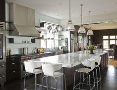 NB Design Group - kitchens - Keynes Prism Single Pendant, long kitchen island...