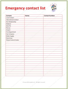 Contacts List Template Fair Pintemplate99 On Contact List Template  Pinterest  Template