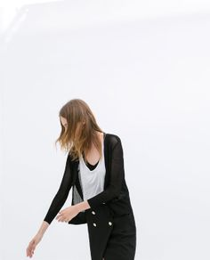 Image 3 of OPEN-WORK CARDIGAN WITH NO BUTTONS from Zara