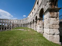 Built in 27 B.C., the Pula Arena is the only remaining Roman amphitheater to have 4 side towers preserved.