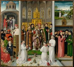 Master of Saint Augustine (Netherlandish, ca. 1490). Scenes from the Life of Saint Augustine, ca. 1490. The Metropolitan Museum of Art, New York. The Cloisters Collection, 1961 (61.199) #Cloisters