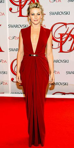 Ten Best Dressed At The CFDA Fashion Awards 2012. Actress Julianne Hough in Kaufmanfranco.