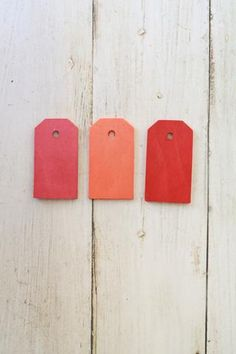 Stained Wooden Gift Tags