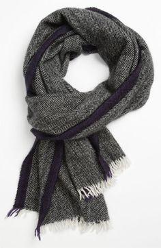Polo Ralph Lauren Herringbone Wool & Cashmere Scarf.