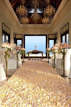 A wedding aisle made