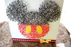 Mickey String Art ~ Disney String Art ~ Custom Wall Art ~ Personalized String Art ~ Nursery Decor Sign ~ Retro by OrgaknitsbyBrielle on Etsy String Wall Art, Nail String Art, Diy Wall Art, Disney String Art, Nursery Art, Nursery Decor, Disney Photo Album, Mickey Mouse Decorations, Cute Room Decor