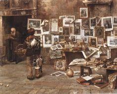 """Emo Mazzetti. """"Un antiquario a Venezia"""", 1900"""