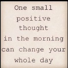 Jaka jest Wasza pozytywna myśl na ten poranek? / What's your small positive thought for this morning?
