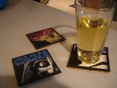 Movie Coasters From Old VHS Tape Jackets #decoration #reuse #upcycle