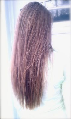 V-cut Hairstyle for Casual Long Straight Brown Hair