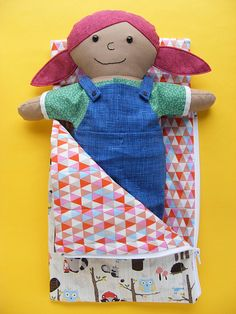 Doll Camping Set Shirt Overalls and Sleeping by ShinyHappyWorld
