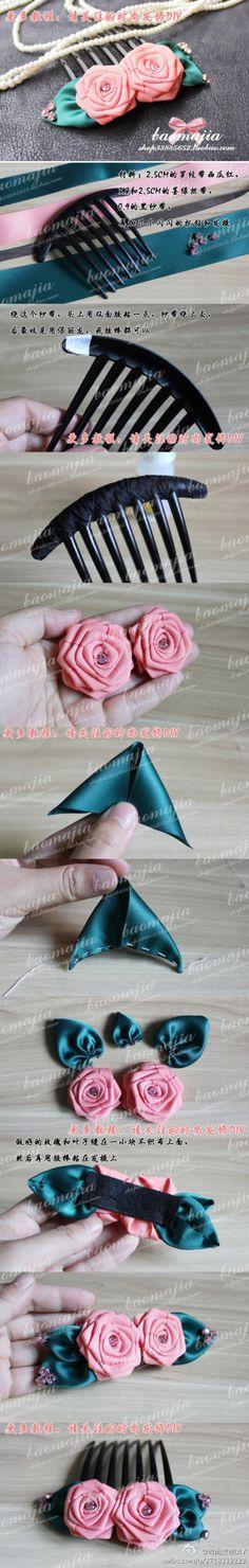 玫瑰花发饰_来自两颗牙的妈的图片分享-堆糖网