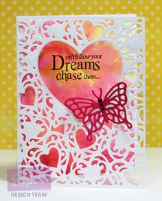 Designed by Lori Barnett. Crafter's Companion Die'sire Create-A-Card A2 Card Size Die - Adore, Die'sire Classiques - Spring/Summer Metal Dies - Delicate Butterfly, Spectrum Aqua Watercolor Markers. @CraftersCompUS  #crafterscompanion @spectrumnoir  #spectrumaqua