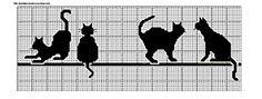 Chats noirs - Point de croix et cie
