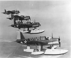 The Vought OS2U Kingfisher was an American catapult-launched observation floatplane. It was a compact mid-wing monoplane, with a large central float and small stabilizing floats. Performance was modest, because of its light engine. The OS2U could also operate on fixed, wheeled, taildragger landing gear.    The OS2U was the main shipboard observation aircraft used by the United States Navy during World War II, and 1,519 of the aircraft were built.