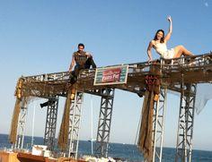 Pastry pier built for event in Santa Barbara.