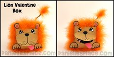 Lion Valentine Box Craft Kids Can Make