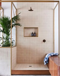 It's so warm in #London that it feels rather tropical. I found this bathroom design by @dangayferdesign which has built in planters, what a great idea to keep your #bathroom feeling #tropical all year round.
